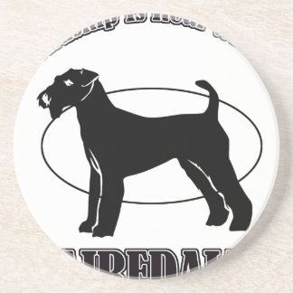 AIREDALE DOG DESIGNS COASTERS