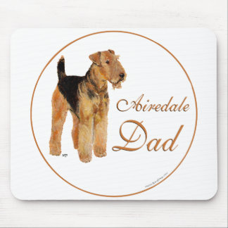 Airedale Father's Day Mouse Pads