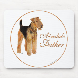 Airedale Father's Day Mousepads