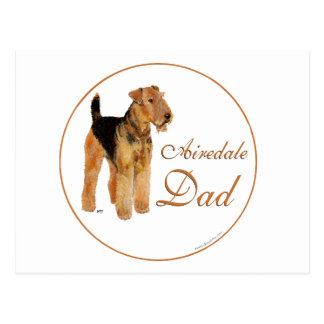 Airedale Father's Day Post Cards