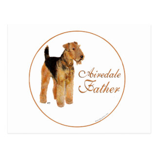 Airedale Father's Day Postcards