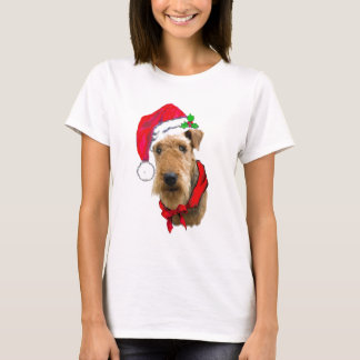 Airedale In Santa Hat T-Shirt