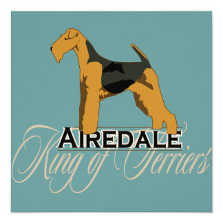 Airedale, King of Terriers, Detailed Personalized Invites
