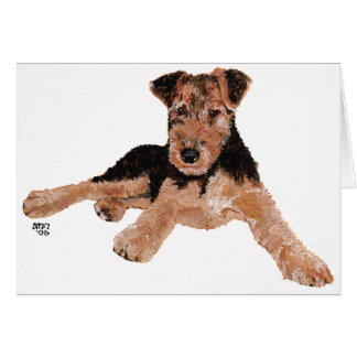 Airedale, Lakeland, Welsh Terrier Pup Greeting Cards