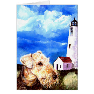 Airedale Lighthouse Card