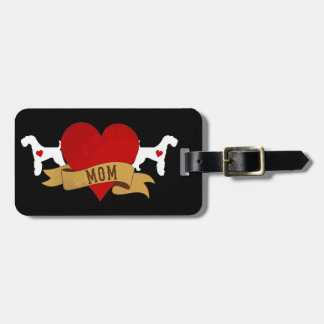 Airedale Mom [Tattoo style] Luggage Tag