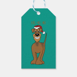Airedale Santa Gift Tags