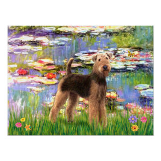 Airedale Terrier (#6) - Lilies #2 Poster