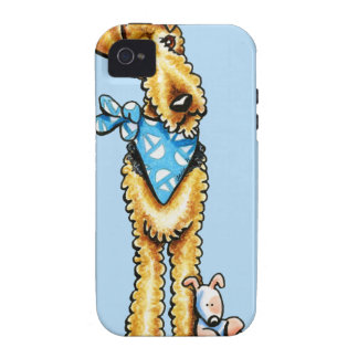 Airedale Terrier and Puppy iPhone 4/4S Cover