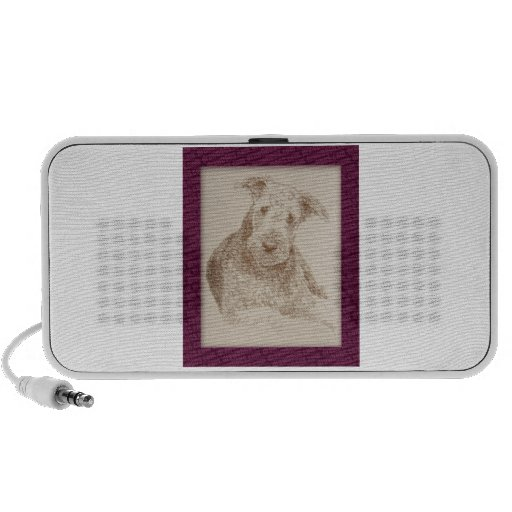 Airedale Terrier art drawn from only words Speaker