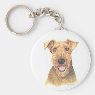 Airedale Terrier Art Key Ring