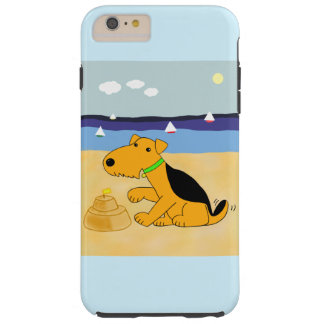 Airedale Terrier At Beach iPhone 6/6s Plus Case