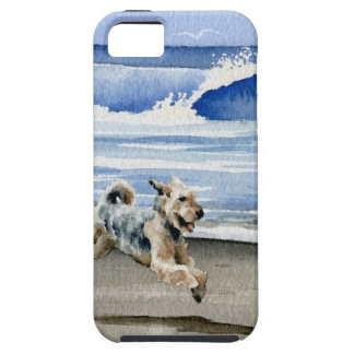 Airedale Terrier At The Beach iPhone 5 Case