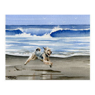 Airedale Terrier At The Beach Postcard