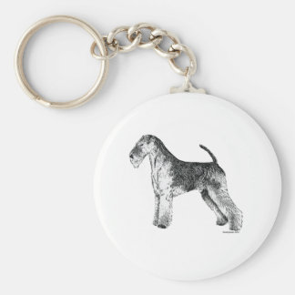 Airedale Terrier Basic Round Button Key Ring