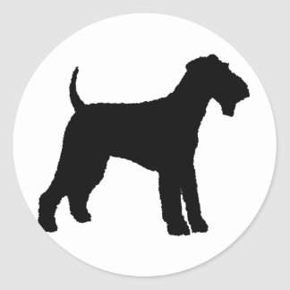 Airedale Terrier (black) Classic Round Sticker