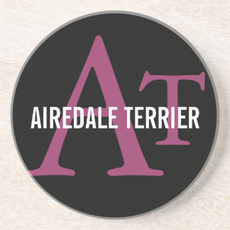Airedale Terrier Breed Monogram Beverage Coasters