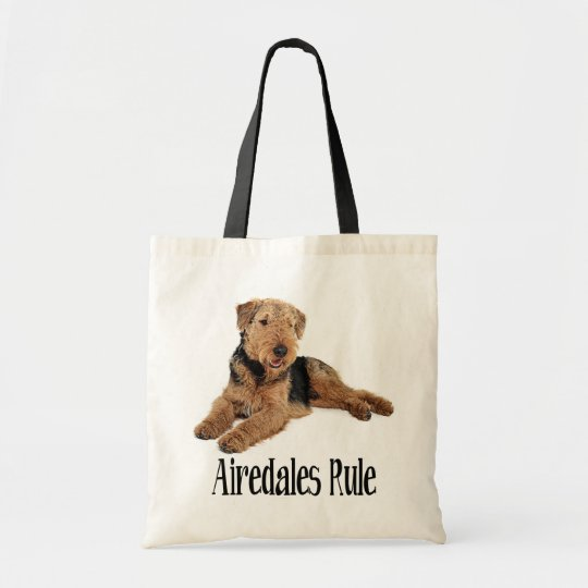Airedale Terrier Brown and Black Puppy Dog Tote