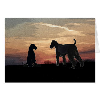 Airedale Terrier Card