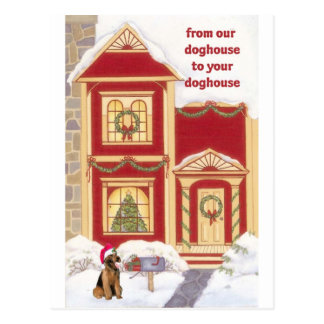 Airedale terrier Christmas Card Postcard