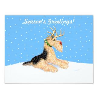 Airedale Terrier Christmas Dale Deer Card