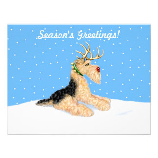 Airedale Terrier Christmas Dale Deer Invites
