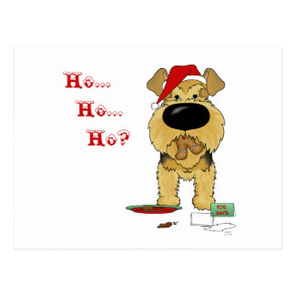 Airedale Terrier Christmas Postcard