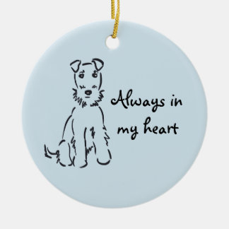Airedale Terrier Customizable Dog Memory Keepsake Round Ceramic Decoration