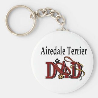 Airedale Terrier Dad Apparel Gifts Key Ring
