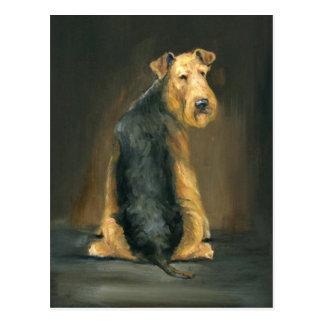 Airedale Terrier Dog Art Postcard