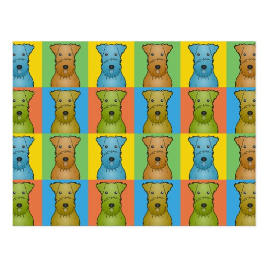Airedale Terrier Dog Cartoon Pop-Art Postcard