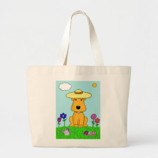 Airedale Terrier Dog in the Garden Tote Bag