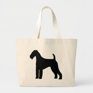 Airedale Terrier Dog Large Tote Bag