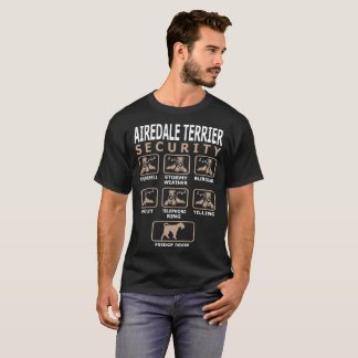 Airedale Terrier Dog Security Pets Funny Tshirt