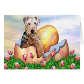 Airedale Terrier Easter Surprise Card