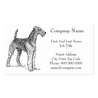 Airedale Terrier Elegant Dog Drawing Pack Of Standard Business Cards