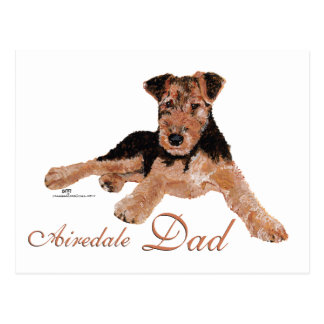 Airedale Terrier Fathers Day Postcards