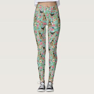 Airedale Terrier floral leggings