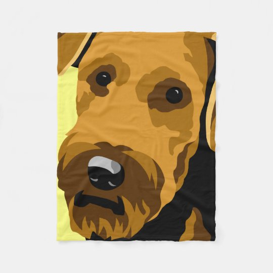 Airedale Terrier Gifts Fleece Blanket