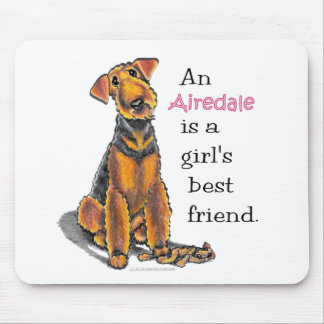 Airedale Terrier Girls Best Friend Mouse Mat
