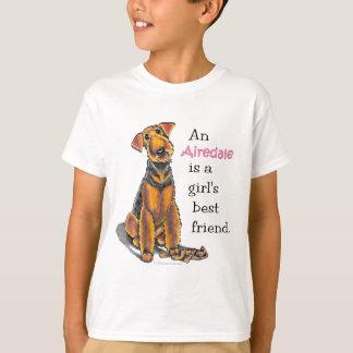 Airedale Terrier Girls Best Friend T-Shirt
