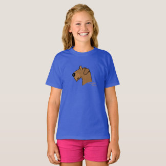 Airedale Terrier head silhouette T-Shirt