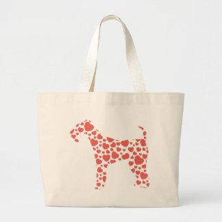 Airedale Terrier Jumbo Tote Bag