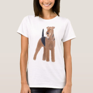 Airedale Terrier Ladies Babydoll Shirt