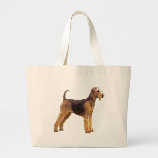 Airedale Terrier Large Tote Bag