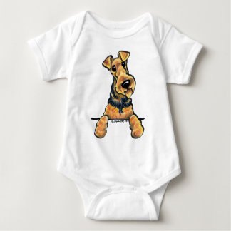 Airedale Terrier Line Art Baby Bodysuit