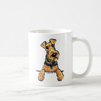 Airedale Terrier Line Art Basic White Mug