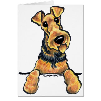 Airedale Terrier Line Art Card