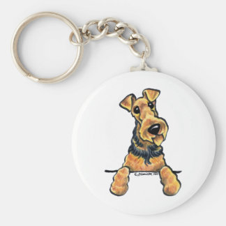 Airedale Terrier Line Art Key Ring