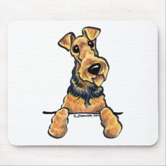 Airedale Terrier Line Art Mouse Mat